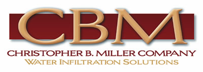Christopher B. Miller Co. specializes in water infiltration solutions, concrete crack repair, cementitious, negative-side waterproofing, brick and stone restoration, flashing and deck and floor coatings.